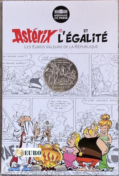 10 euros France 2015 - Asterix égalité Le Devin - en cartelette