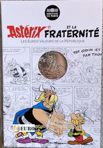 10 euros France 2015 - Asterix fraternité et les Normands - en cartelette