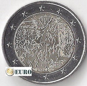 2 euros France 2019 - Mur de Berlin UNC