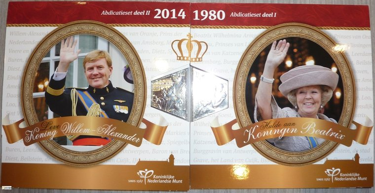 Série euro BU FDC Pays-Bas 2013 + 2014 Abdication