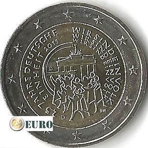 2 euros Allemagne 2015 - D Réunification Allemande UNC