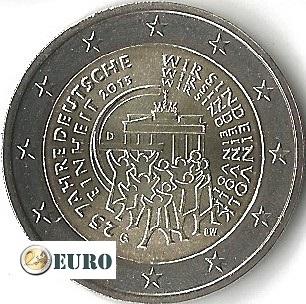 2 euros Allemagne 2015 - G Réunification Allemande UNC