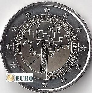 2 euros Andorre 2018 - 70 ans Droits de l'Homme UNC