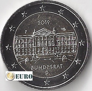 2 euros Allemagne 2019 - F Bundesrat UNC