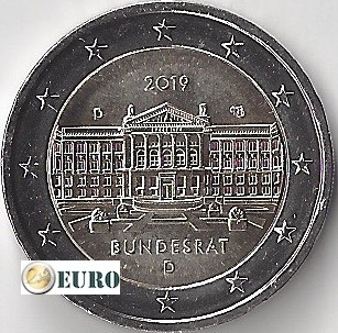 2 euros Allemagne 2019 - D Bundesrat UNC