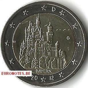 Allemagne 2012 - 2 euro G Bavière UNC