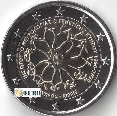 2 euros Chypre 2020 - Institut neurologie et génétique UNC