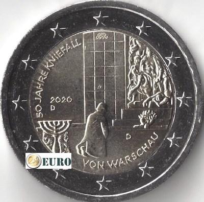 2 euros Allemagne 2020 - D Agenouillement Varsovie UNC