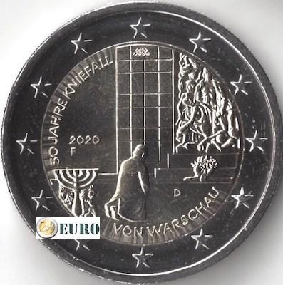2 euros Allemagne 2020 - F Agenouillement Varsovie UNC