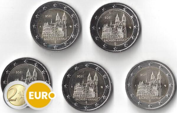 2 euros Allemagne 2021 - ADFGJ Saxe-Anhalt UNC