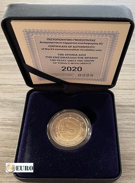 2 euros Grèce 2020 - Unification Thrace BE Proof