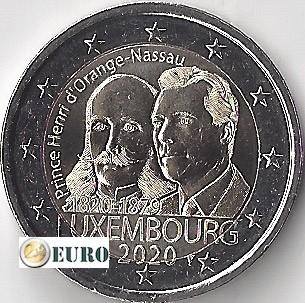 2 euros Luxembourg 2020 - Henri d'Orange-Nassau UNC