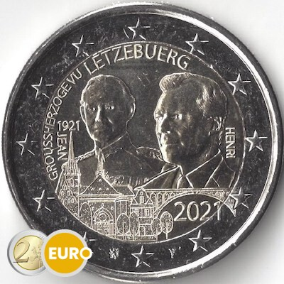 2 euros Luxembourg 2021 - 100 ans naissance Jean UNC