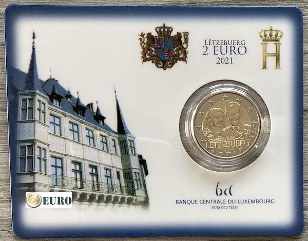 2 euros Luxembourg 2021 - 40 ans mariage Henri BU FDC Coincard