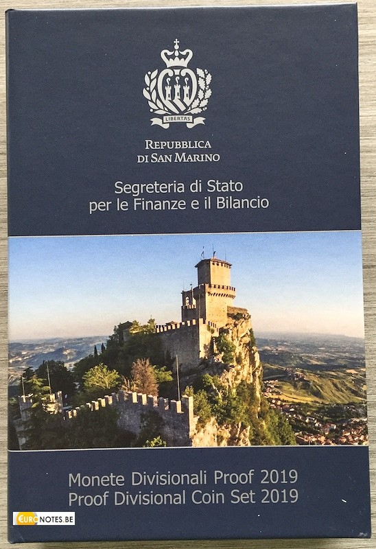 Saint-Marin 2019 - série euro BE Proof + 2 x 2 euros commémorative