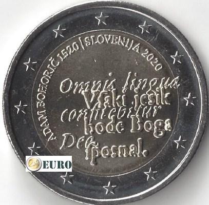 2 euros Slovénie 2020 - Adam Bohoric UNC
