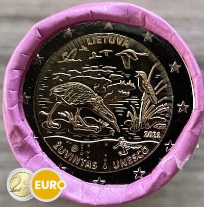 Rouleau 2 euros Lituanie 2021 - Réserve de biosphère Zuvintas